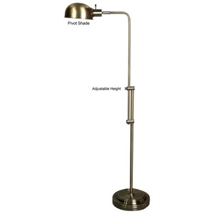 Adjustable Floor Lamp with Pivoting Shade