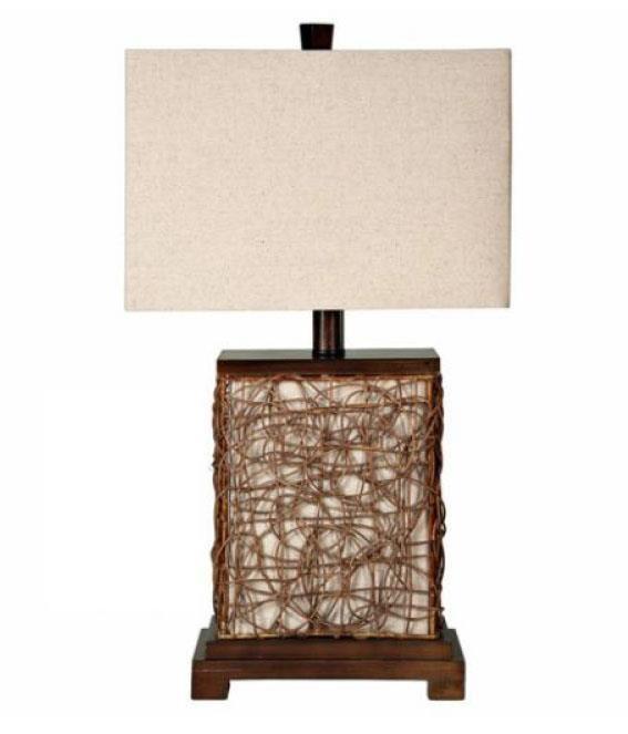 Lamps Natural Woven Lamp at Ruby Gordon Home
