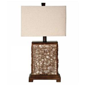Natural Woven Lamp
