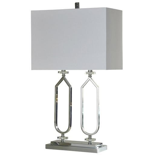 Lamps Chrome Metal & Clear Acrylic Table Lamp at Ruby Gordon Home