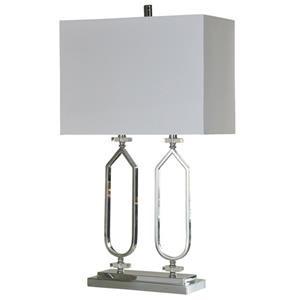 Chrome Metal & Clear Acrylic Table Lamp