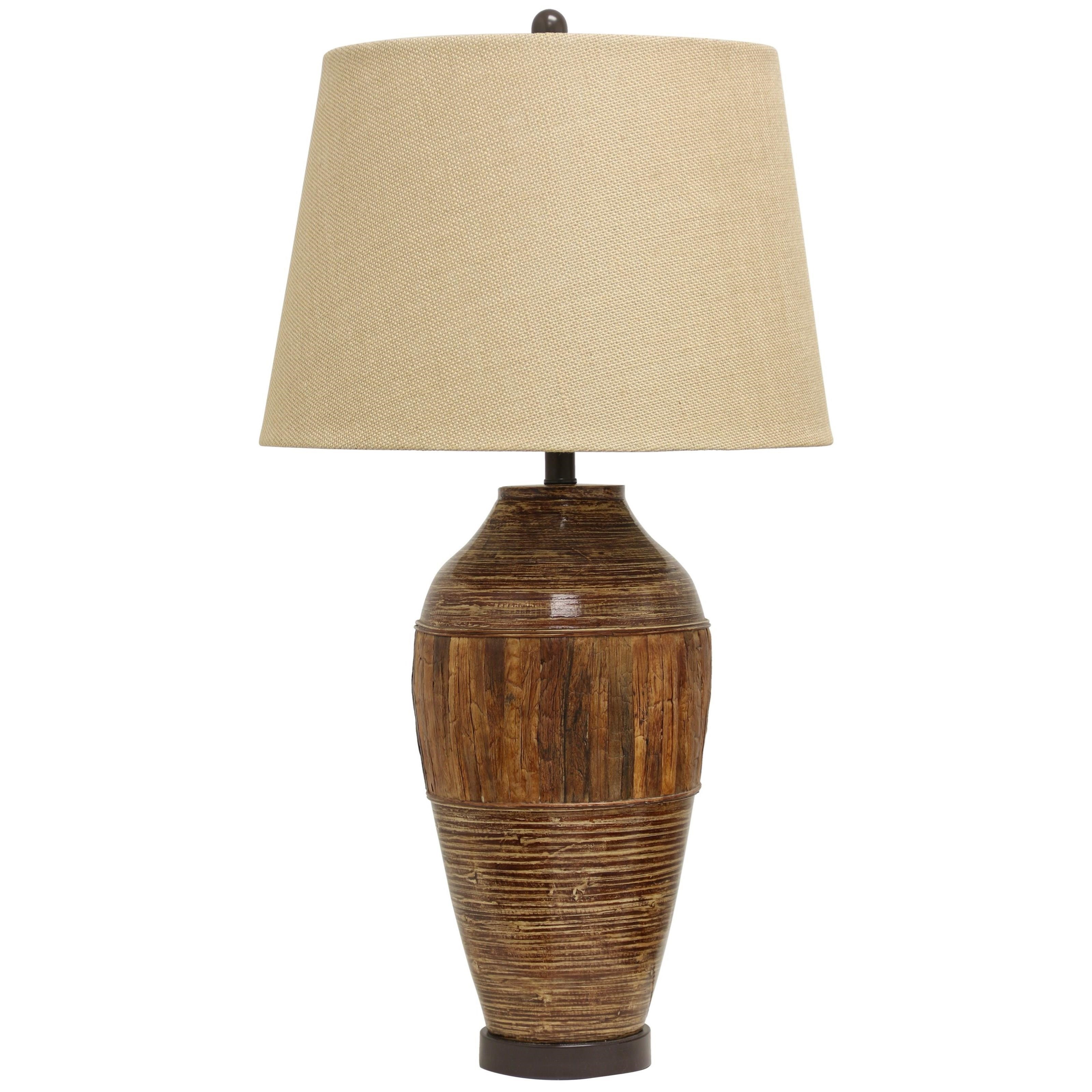 Lamps Bamboo and Water Hyacinth Table Lamp by StyleCraft at Wilcox Furniture