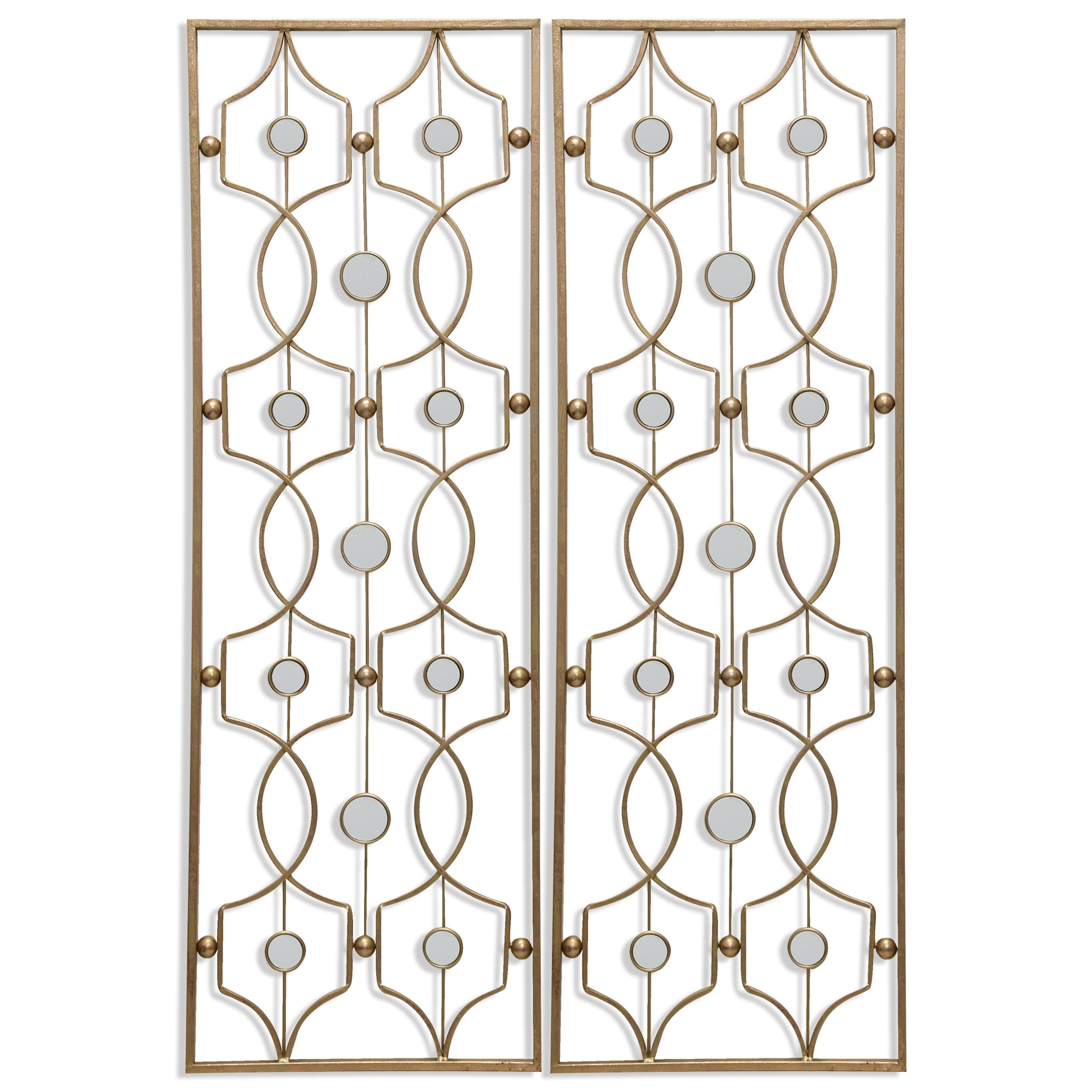 Wall Décor Set of 2 Metal Wall Hangings by StyleCraft at Michael Alan Furniture & Design