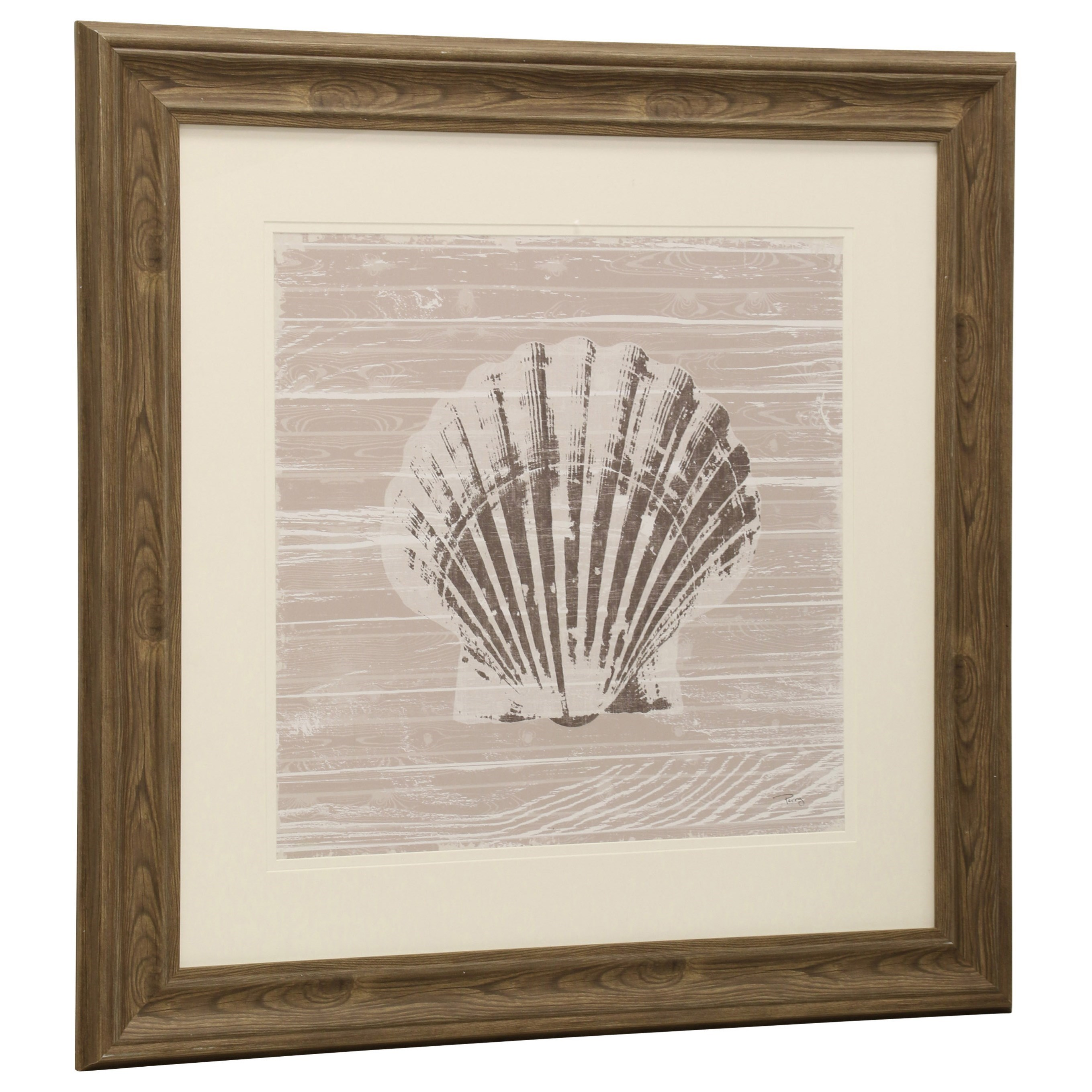 Wall Décor Seashell Print by StyleCraft at Alison Craig Home Furnishings