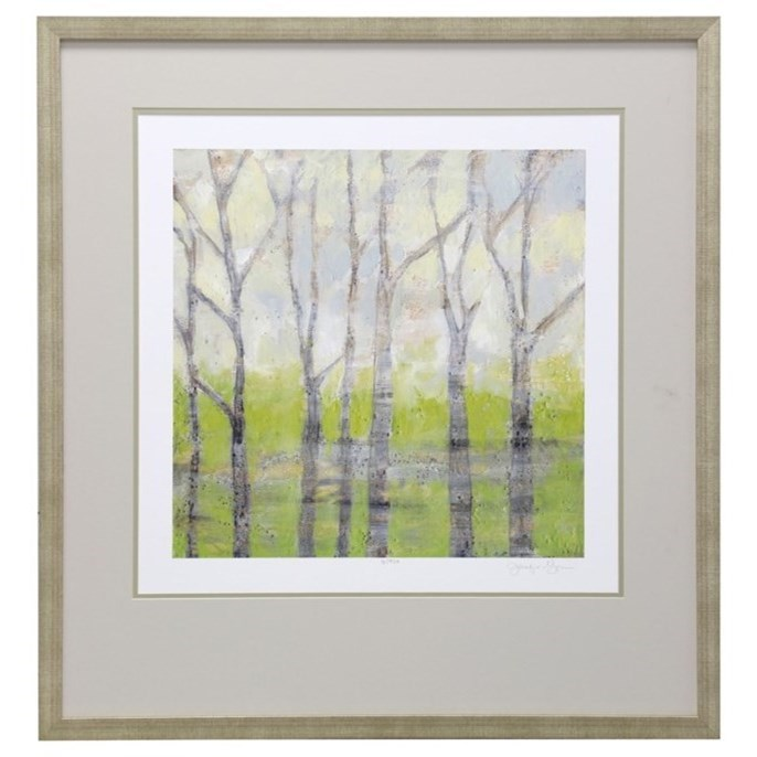 Wall Décor Birch Trees in Spring by StyleCraft at Alison Craig Home Furnishings