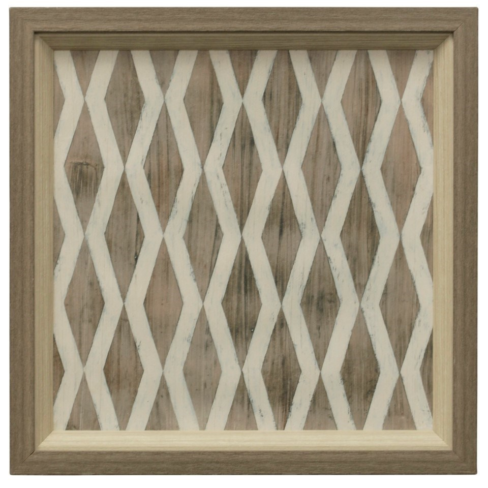 Wall Décor Driftwood Geometry V | Print by StyleCraft at Alison Craig Home Furnishings
