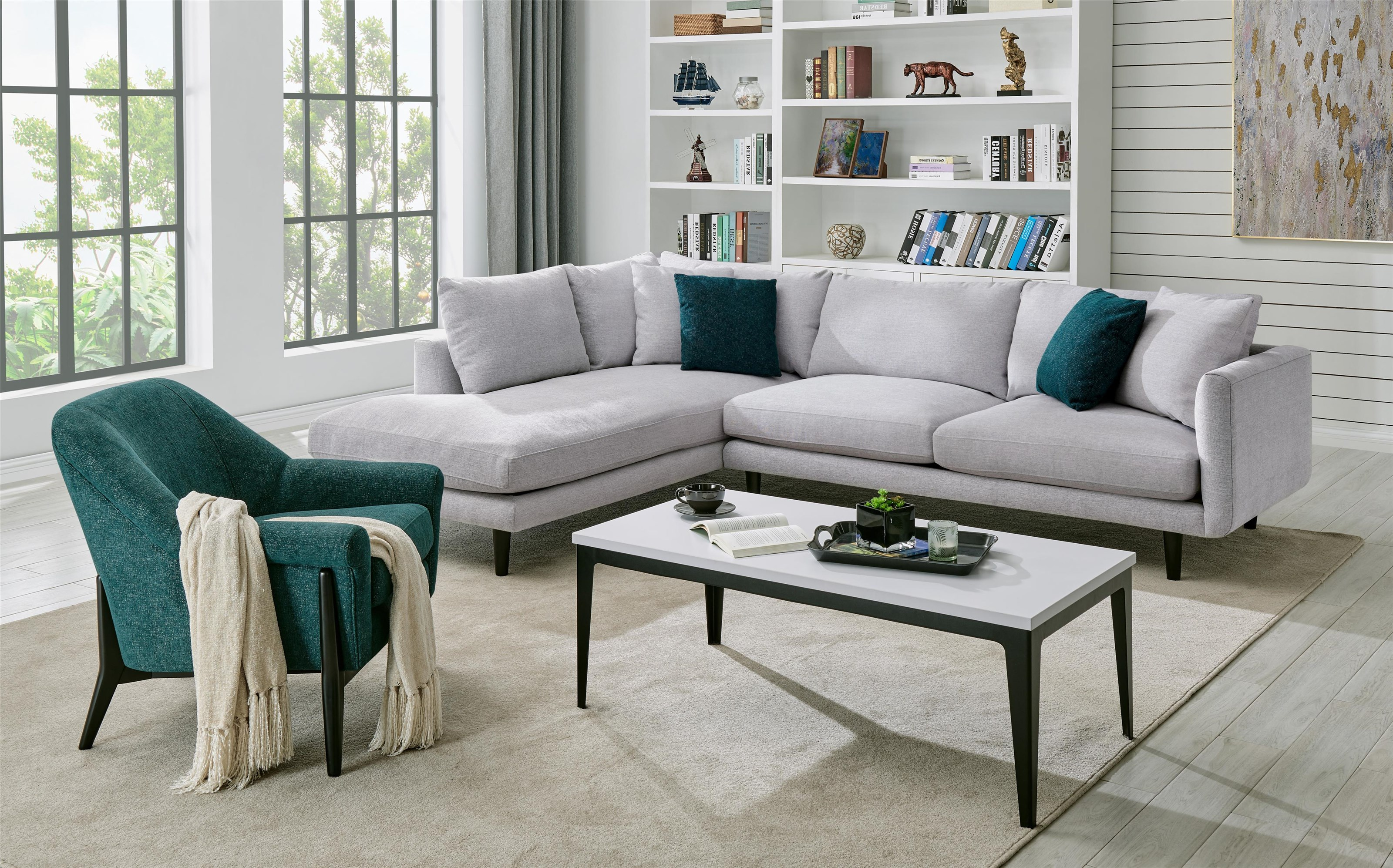 2252 2252 DD 2 PC Sectional in Elliot Dove by Lewis Home at Stoney Creek Furniture