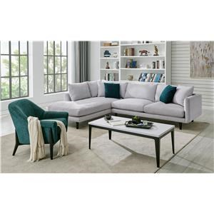 2252 DD 2 PC Sectional in Elliot Dove