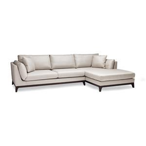 2 Pc Sectional in candid Fleece