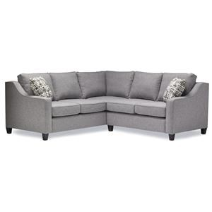 2 Pc Sectional in taylor Grey