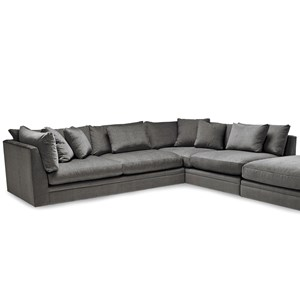 Two Piece Sectional Sofa with Scattered Back Pillows