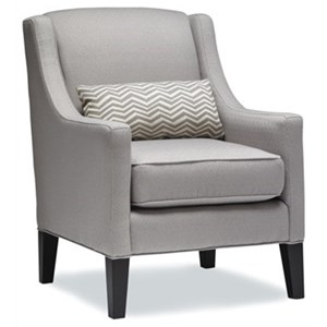 Casual Accent Chair with Tall Legs and Kidney Pillow
