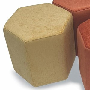 Hex Six-Sided Accent Ottoman