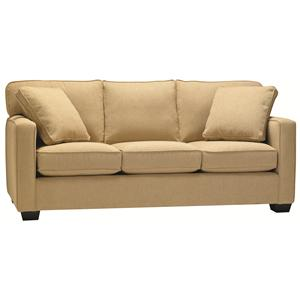 Stationary Contemporary Sofa with Track Arms and Loose Back
