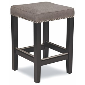"""Casual 24"""" Counter Stool with Nailhead Trim"""