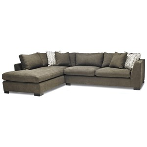 Casual Two Piece Sectional Sofa with LAF Chaise