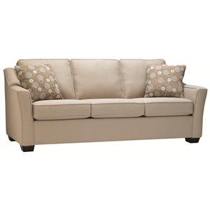 Contemporary Sofa with Flared Track Arms in Modern Furniture Style