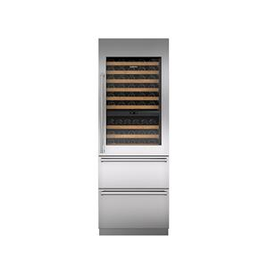 "30"" Integrated Wine Storage with Refrigerator Drawers"