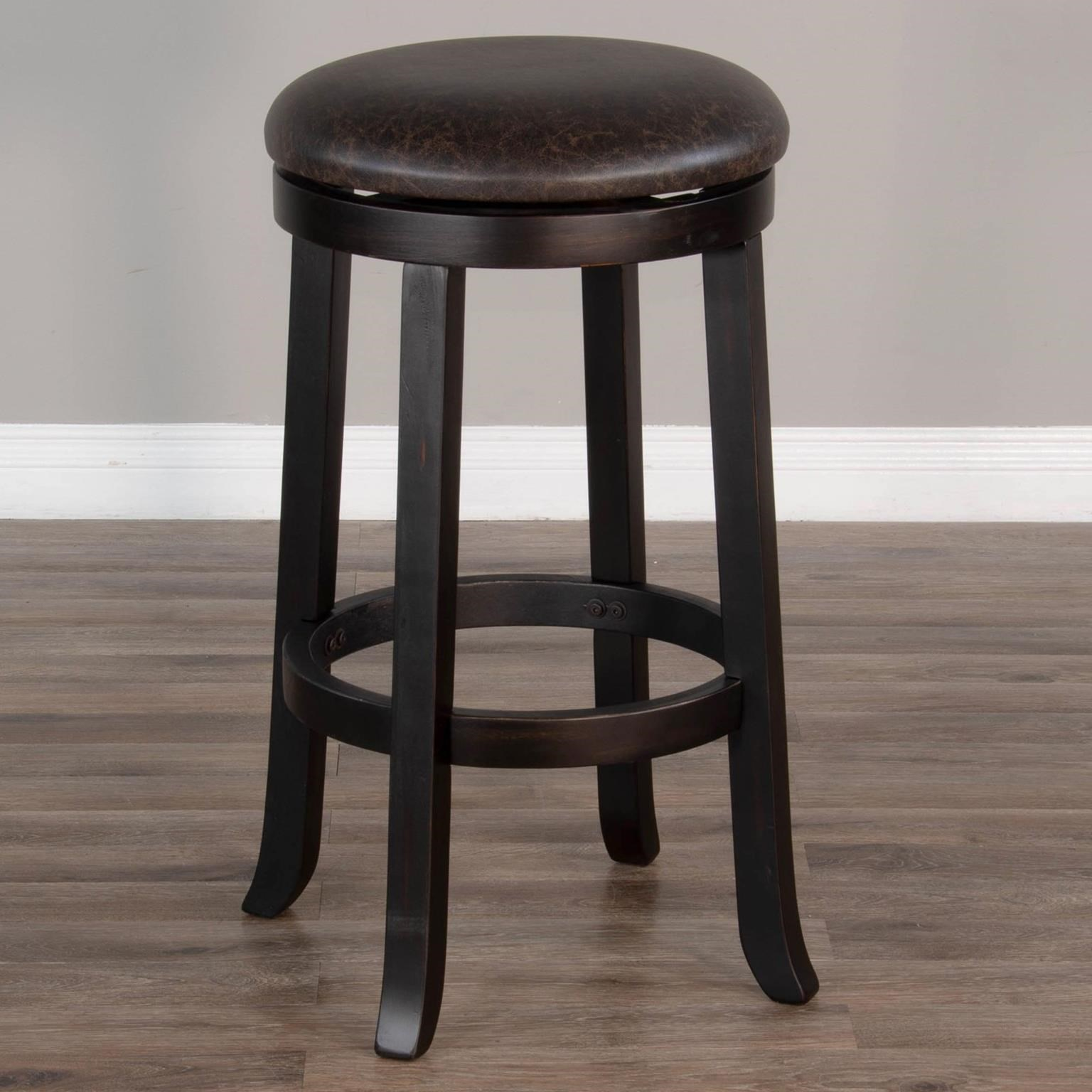 """1646 30""""H Swivel Stool, Cushion Seat by Sunny Designs at Sparks HomeStore"""