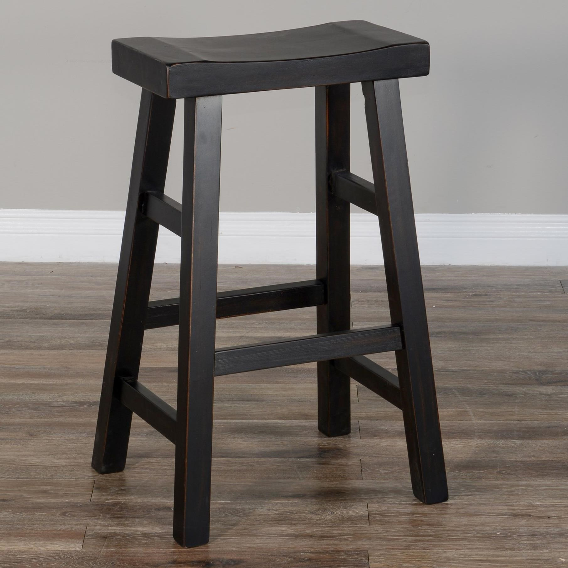 "1768 30""H Saddle Seat Stool, Wood Seat by Sunny Designs at Miller Home"