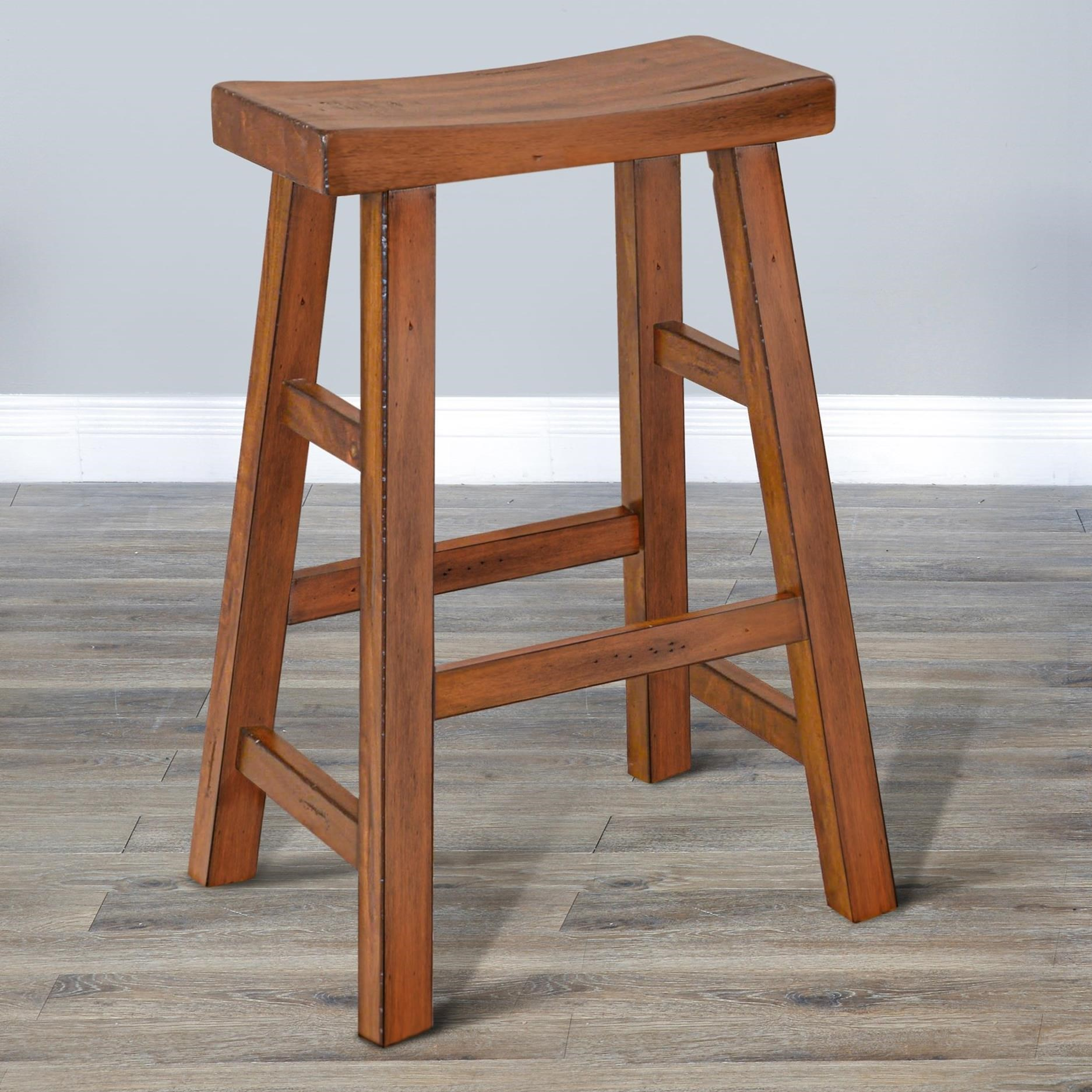 """1768 30""""H Saddle Seat Stool, Wood Seat by Sunny Designs at Wayside Furniture"""