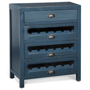 Four Drawer Server with Three Wine Racks