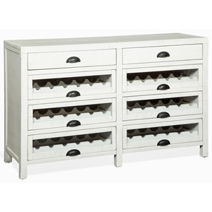Eight Drawer Server with 6 Wine Racks
