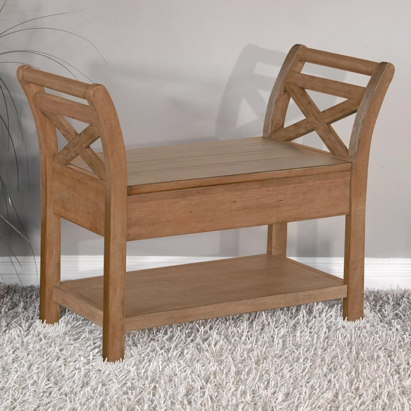 2075 Accent Bench with Storage by Sunny Designs at Wayside Furniture