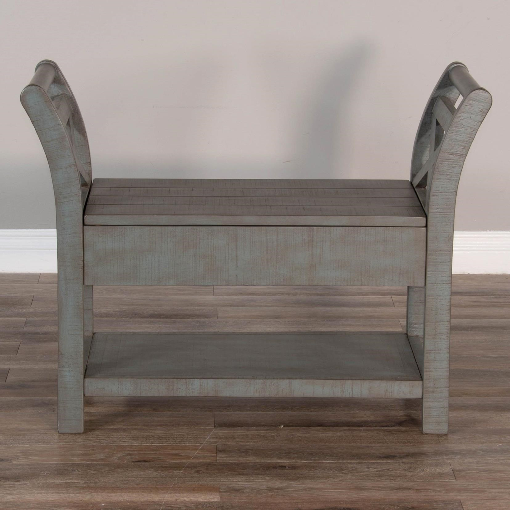 2075 Accent Bench with Storage by Sunny Designs at Sparks HomeStore