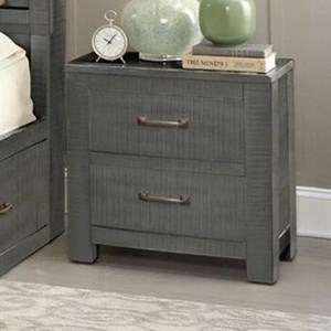 Rustic Nightstand with Distressed Finish
