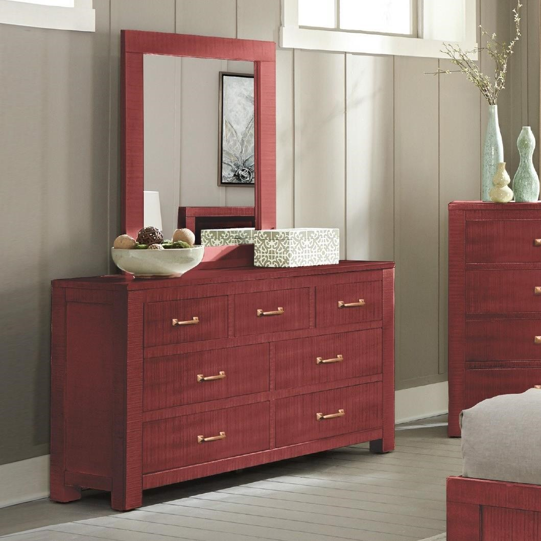 2319 Dresser and Mirror Set by Sunny Designs at Factory Direct Furniture