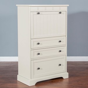 Casual Laptop Armoire with File Drawer