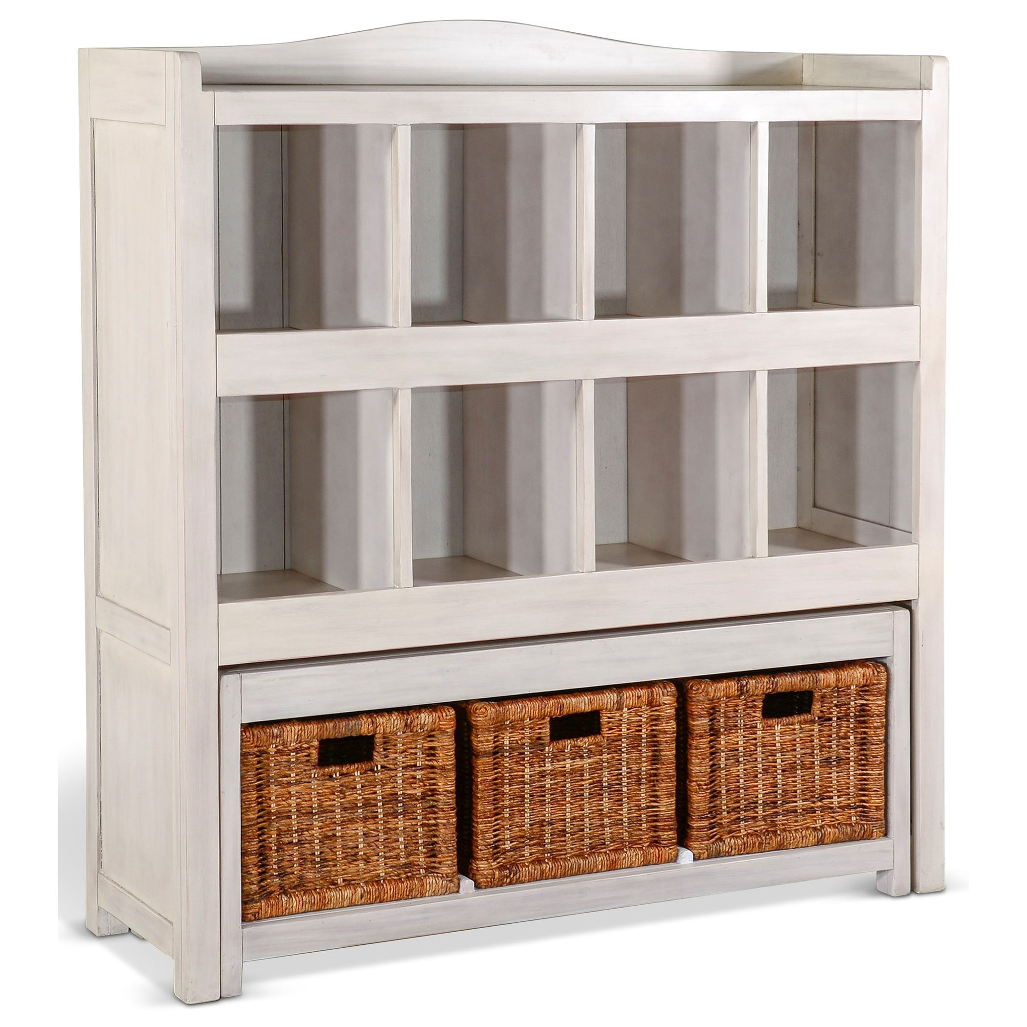 2993 Storage Bookcase w/ Trundle Bench at Sadler's Home Furnishings