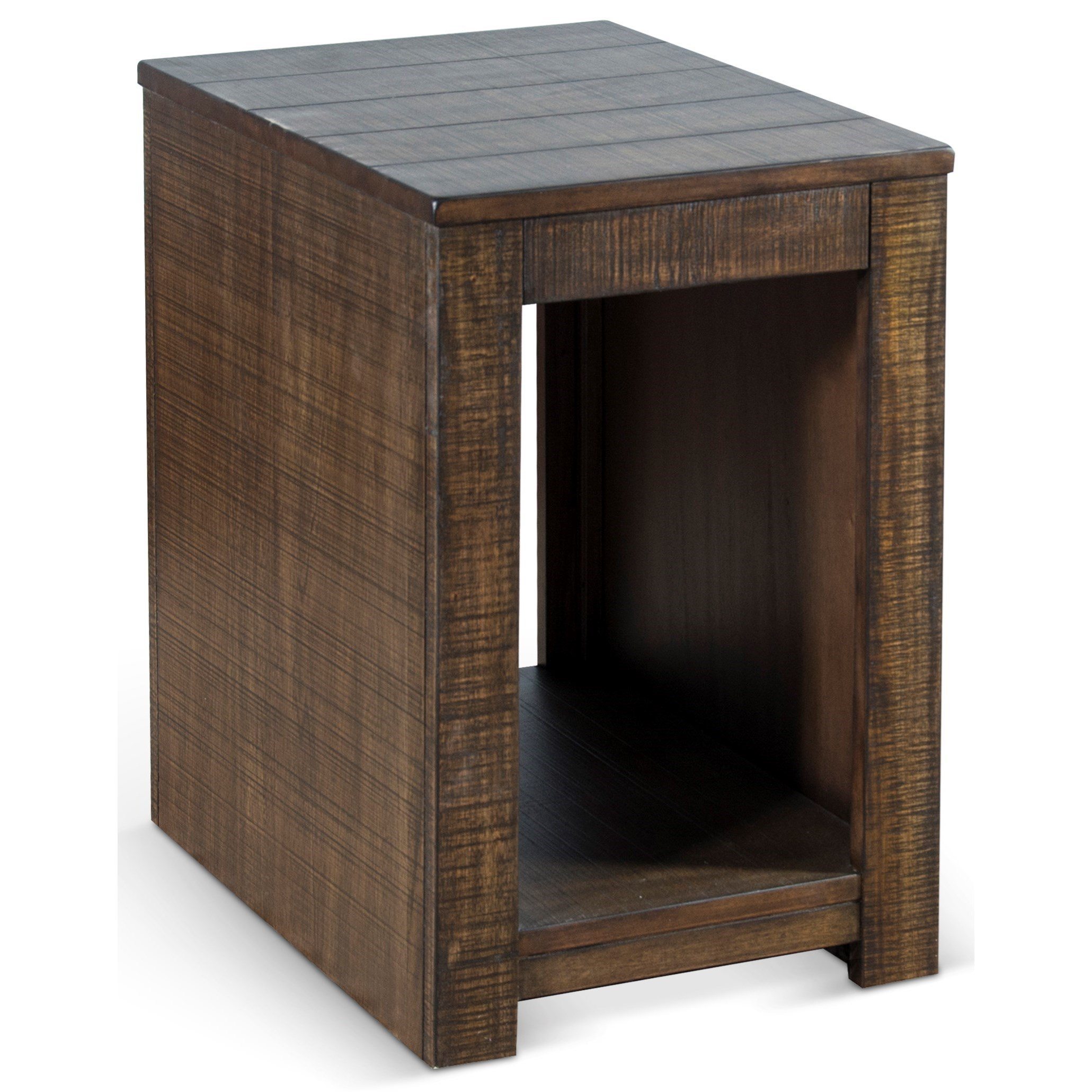 3108 Solid Wood Mahogany Chair Side Table by Sunny Designs at Fashion Furniture