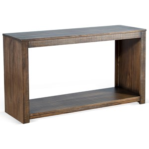 Rustic Solid Wood Mahogany Sofa Table