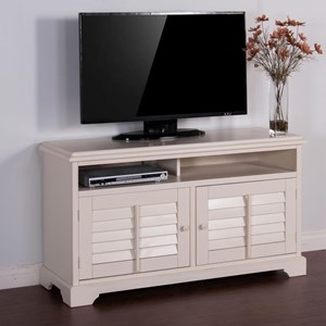 "Transitional 54"" TV Console with Shutter Doors"