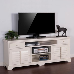 "Transitional 78"" TV Console with Shutter Doors"