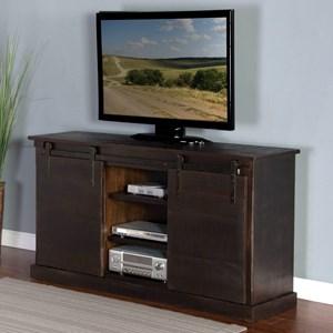 "Sunny Designs 3577 65"" TV Console w/ Barn Doors"
