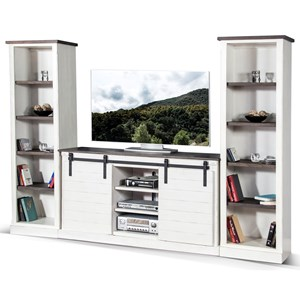 Entertainment Wall Unit with Cord Management