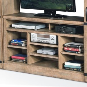 """55""""W TV Console with Open Shelves"""