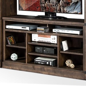 "55""W TV Console with Open Shelves"
