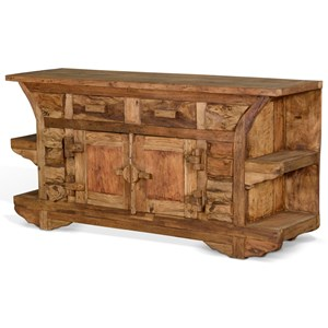 Rustic Solid Wood TV Console