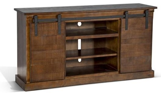 Barn Door TV Console by Sunny Designs at Becker Furniture