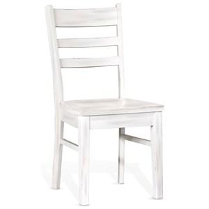 Ladderback Chair, Wood Seat