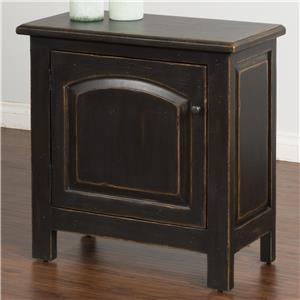 End Table with Arch Door