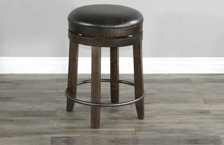 Black Walnut Stool at Bennett's Furniture and Mattresses