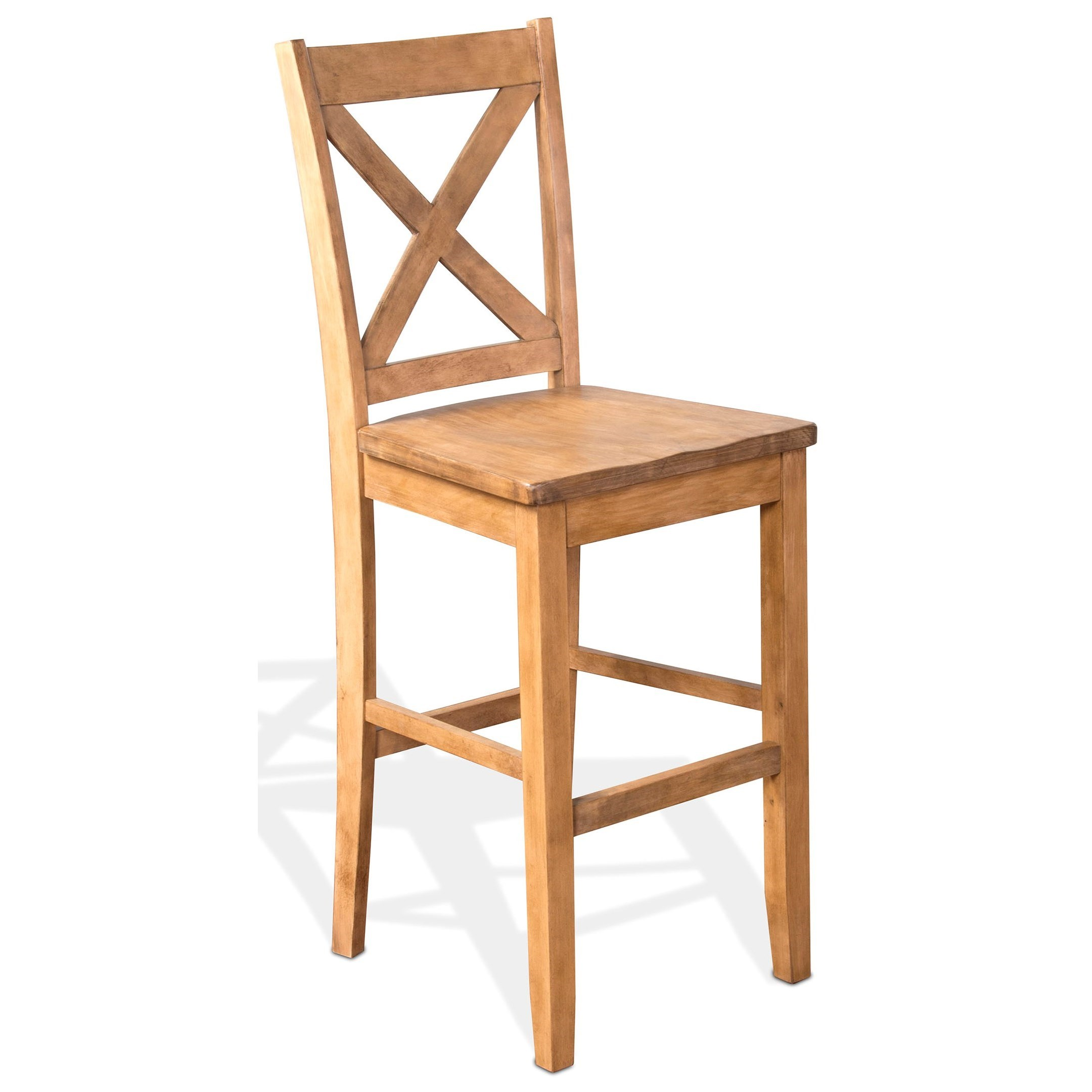 Blue Moon  Crossback Barstool by Sunny Designs at Sparks HomeStore