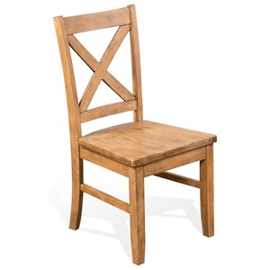Solid Wood Crossback Chair