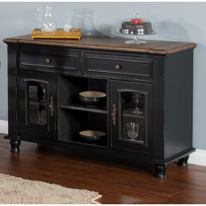 Two-Tone Server with Adjustable Shelving