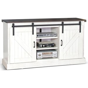 Cottage TV Console with Sliding Barn Doors